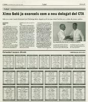 Ximo Solé ja exerceix com a nou delegat del CTA