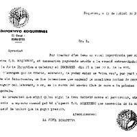Circular: reunió extraordinària de la Junta Directiva del CD Roquetenc