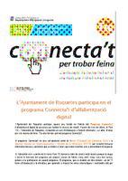 L'Ajuntament de Roquetes participa en el programa Connecta't d'alfabetització digital.