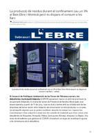 La producció de residus durant el confinament cau un 3% al Baix Ebre i Montsià però es dispara el consum a les llars.