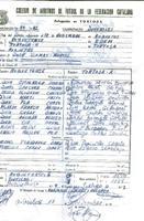 Acta de la Federació Catalana de Futból del partit disputat entre el CD Tortosa-A i el CD Roquetenc, el 18 de novembre 1985