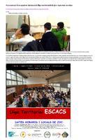 Un centenar d'escaquistes iniciaran la lliga territorial dels jocs esportius escolars.