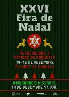 XXVI Fira de Nadal: associacions i comerç de Roquetes, 14 i 15 de desembre de 2019, a l'Hort de Cruells