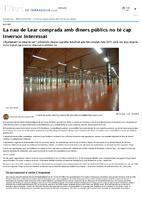La nau de Lear comprada amb diners públics no té cap inversor interessat.