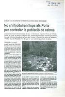 No s'introduiran llops als Ports per controlar la població de cabres