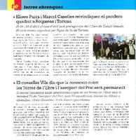 Eliseo Parra i Marcel Caselles reivindiquen el pandero quadrat a Roquetes i Tortosa.
