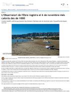 L'Observatori de l'Ebre registra el 6 de novembre més calorós des de 1880.