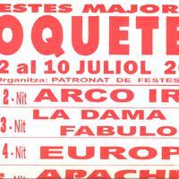 Festes Majors Roquetes 2010: cartellera orquestres