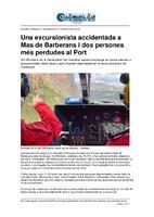 Una excursionista accidentada a Mas de Barberans i dos persones més perdudes al Port.