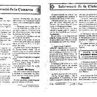 Crònica informativa de Roquetes amb comentari del partit disputat entre el Dertusa FC i el CD Roquetenc, 1 de març de 1930