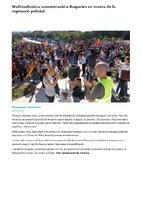 Multitudinària concentració a Roquetes en contra de la repressió policial.