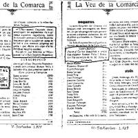 Recull de premsa sobre el CD Roquetenc, publicat al setembre de 1929 al setmanari Vida Tortosina