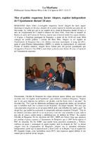 Mor el polític roquetenc Javier Alegret, regidor independent de l'Ajuntament durant 24 anys.