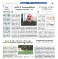 L'alcalde de Roquetes rebutja les crítiques que ha rebut l'ADF
