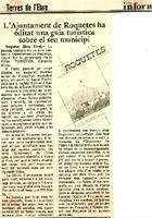 L'ajuntament de Roquetes ha editat una guia turística sobre el seu municipi.