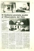 El Gobierno promete ayudar al Observatorio del Ebro.