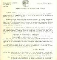 Carta d'inscripció a l'Escola de Futbol del CD Roquetenc per al curs 1991/92