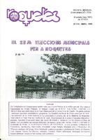 Roquetes: revista mensual d'informació local, número 115, abril 1995