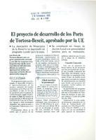 El proyecto de desarrollo de los Ports de Tortosa-Beseit, aprobado por la EU