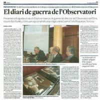 El diari de guerra de l'Observatori