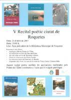 V Recital poètic ciutat de Roquetes