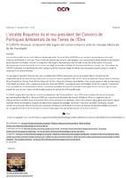 L'alcalde de Roquetes és el nou president del Consorci de Polítiques Ambientals de les Terres de l'Ebre