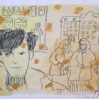 Il·lustracions realitzades per Ignasi Blanch abans de la caiguda del mur de Berlín, 1988