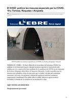 El DOGC publica les mesures especials per la COVID-19 a Tortosa, Roquetes i Amposta.