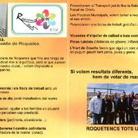 Programa electoral RTU Roquetes 2015. Eleccions Municipals.