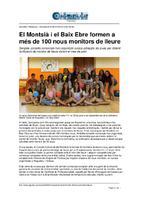 El Montsià i el Baix Ebre formen a més de 100 nous monitors de lleure