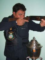 Copa Catalunya de tir amb fusell amb Joan Alcoba al 2007
