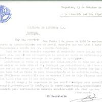 Carta d'agraïment del CD Roquetenc a la Cel·lulosa de Llevant per una donació de 5000 pessetes