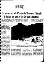 La neu cau als Ports de Tortosa-Beseit i deixa un gruix de 20 centímetres