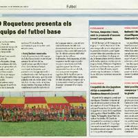 El CD Roquetenc presenta els sis equips del futbol base
