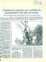 Comença la campanya per combatre la processionària dels pins als boscos.