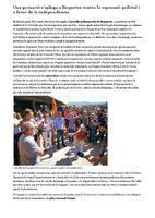 Una gernació s'aplega a Roquetes contra la represió policial i a afavor de la independència.
