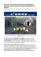 Dos plans d'ocupació impulsats  per la Diputació milloren entorns naturals i urbans del Baix Ebre i el Montsià.