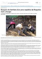 Busquen els familiars d'un pres republicà de Roquetes mort a Burgos