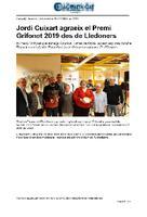 Jordi Cuixart agraeix el Premi Grifonet 2019 des de Lledoners.