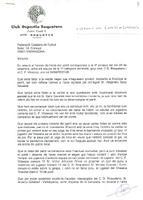 Comunicat del CD Roquetenc a la Federació Catalana de Futbol, 1997