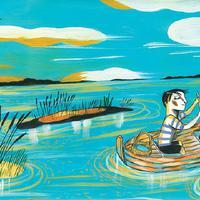 Il·lustracions del conte 'El riu' d'Ignasi Blanch amb textos de Gerard Vergés