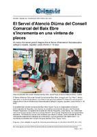 El Servei d'Atenció Diürna del Consell Comarcal del Baix Ebre s'incrementa en una vintena de places.