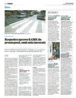 Roquetes aprova 6,4 M€ de pressupost, amb més inversió.