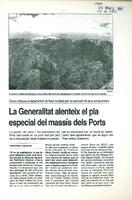 La Generalitat alenteix el pla especial del Massís dels Ports