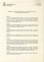 Ordenança reguladora per a la utilització del Casal Municipal de l'Hort de Cruells, gener 2000