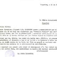 Comunicat del CD Roquetenc a Silvia Arrastrària