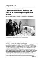 La primera catalana de l'any ha nascut a Tortosa i porta per nom Noèlia