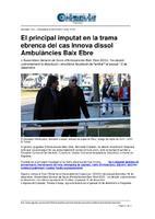 El principal imputat en la trama ebrenca del cas Innova dissol<br /><br /> Ambulàncies Baix Ebre.