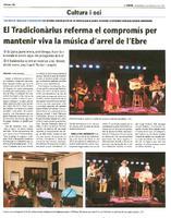 El Tradicionàrius referma el compromís per mantenir viva la música d'arrel de l'Ebre