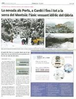 La nevada als Ports, a Cardó i fins i tot a la serra del Montsià: l'únic vessant idíl·lic del Glòria.